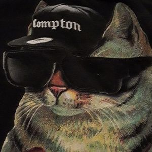 Ruthless Cat from Compton tee by Upper Playground